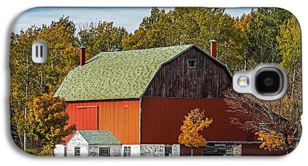 Barn Yard Galaxy S4 Cases - Autumn on the farm Galaxy S4 Case by Paul Freidlund