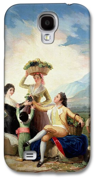 Autumn, Or The Grape Harvest, 1786-87 Oil On Canvas Galaxy S4 Case by Francisco Jose de Goya y Lucientes