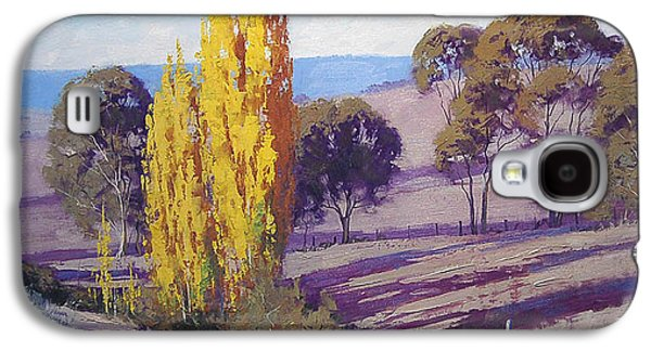 Shed Paintings Galaxy S4 Cases - Autumn Poplars Galaxy S4 Case by Graham Gercken