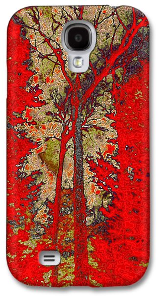 Surreal Landscape Galaxy S4 Cases - Autumn Reds Galaxy S4 Case by David Patterson