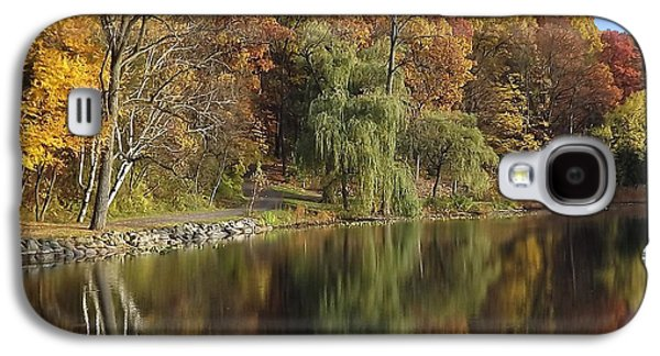 Landscape Acrylic Prints Digital Art Galaxy S4 Cases - Autumn Reflections Galaxy S4 Case by Bill Woodstock