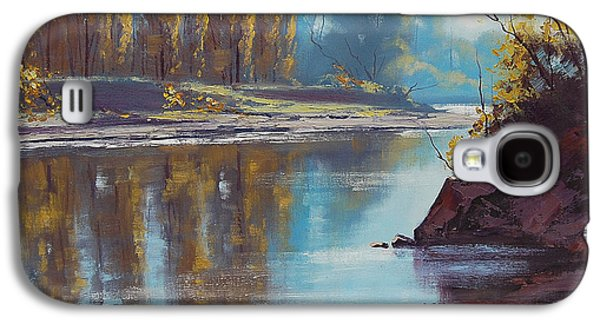 Beautiful Creek Paintings Galaxy S4 Cases - Autumn Reflections Tumut River Galaxy S4 Case by Graham Gercken