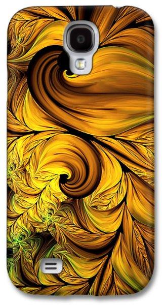 Youthful Galaxy S4 Cases - Autumn Returns Abstract Galaxy S4 Case by Georgiana Romanovna
