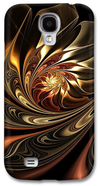 Youthful Galaxy S4 Cases - Autumn Reverie Abstract Galaxy S4 Case by Georgiana Romanovna