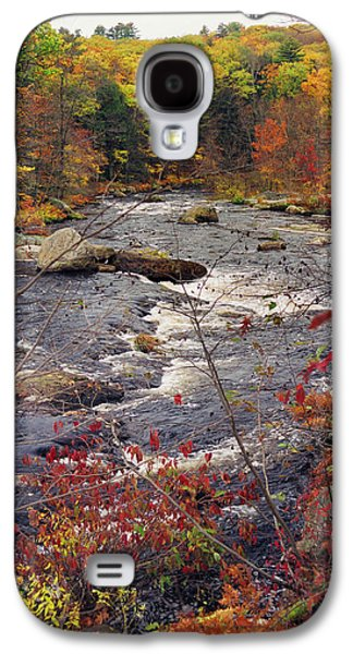 Reflections In River Galaxy S4 Cases - Autumn River Galaxy S4 Case by Joann Vitali