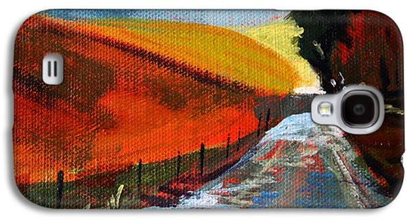 Autumn Road Galaxy S4 Case by Nancy Merkle