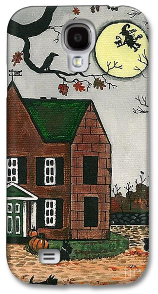 Haunted House Paintings Galaxy S4 Cases - Autumn Scotties Galaxy S4 Case by Margaryta Yermolayeva