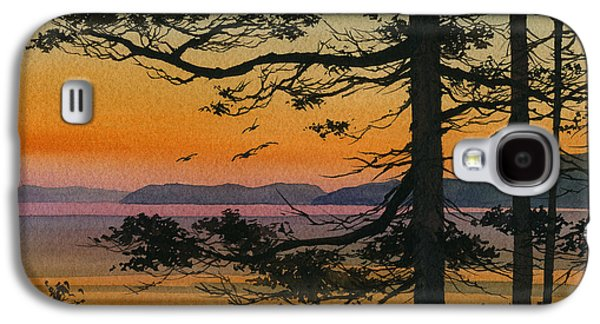 Landscape Greeting Cards Galaxy S4 Cases - Autumn Shore Galaxy S4 Case by James Williamson