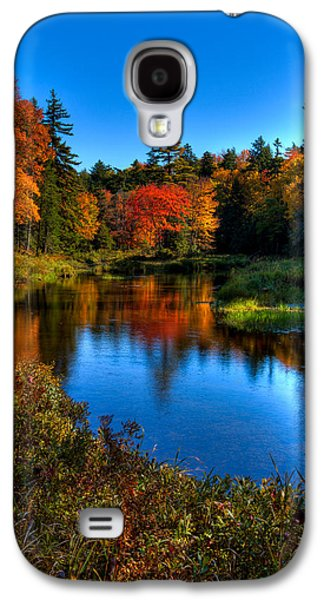 Reflections In River Galaxy S4 Cases - Autumn Splendor on the Moose River Galaxy S4 Case by David Patterson