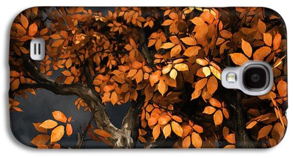 Autumn Trees Galaxy S4 Cases - Autumn Storm Galaxy S4 Case by Cynthia Decker