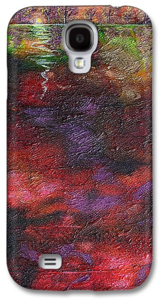 Modern Abstract Galaxy S4 Cases - Autumn Storm Passes Galaxy S4 Case by Donna Blackhall