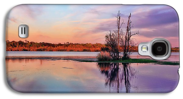 Surreal Landscape Galaxy S4 Cases - Autumn sunset in Hanahan Galaxy S4 Case by Marcia Colelli