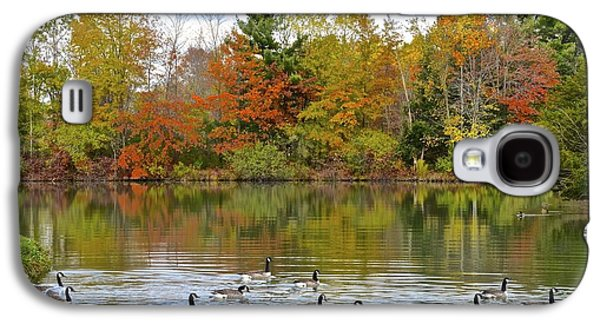 Inner Peace Galaxy S4 Cases - Autumn Swim Galaxy S4 Case by Frozen in Time Fine Art Photography