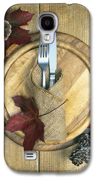Pine Cones Photographs Galaxy S4 Cases - Autumn Table Setting Galaxy S4 Case by Amanda And Christopher Elwell