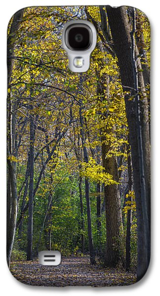Alley Galaxy S4 Cases - Autumn Trees Alley Galaxy S4 Case by Sebastian Musial