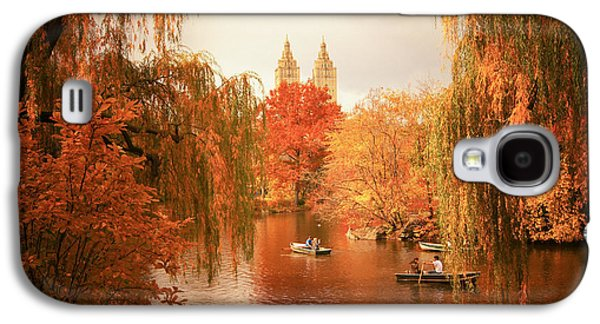 Autumn Foliage Galaxy S4 Cases - Autumn Trees - Central Park - New York City Galaxy S4 Case by Vivienne Gucwa