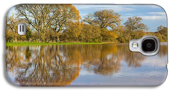 River Flooding Galaxy S4 Cases - Autumn Trees Galaxy S4 Case by Sebastian Wasek