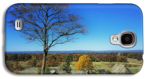 Battlefield Site Galaxy S4 Cases - Autumn View on Little Round Top - Gettysburg Galaxy S4 Case by Mountain Dreams
