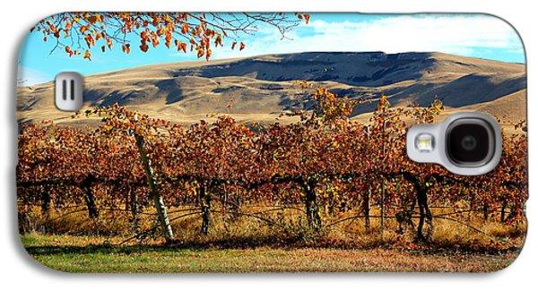 Yakima Valley Galaxy S4 Cases - Autumn Vineyard in the Valley Galaxy S4 Case by Carol Groenen