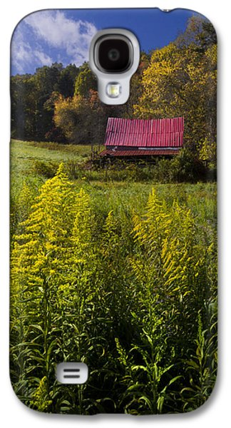 Tennessee Barn Galaxy S4 Cases - Autumn Wildflowers Galaxy S4 Case by Debra and Dave Vanderlaan
