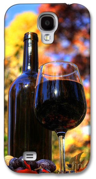 Red Wine Prints Galaxy S4 Cases - Autumn Wine 2 Galaxy S4 Case by Jimmy Ostgard
