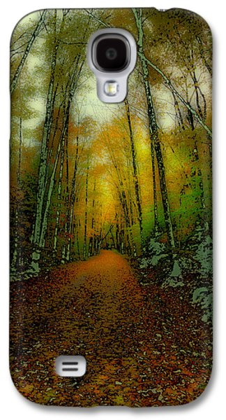 Abstract Digital Art Galaxy S4 Cases - Autumns Back Roads Galaxy S4 Case by David Patterson