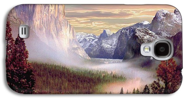 Half Dome Paintings Galaxy S4 Cases - Autumns First Snowfall Galaxy S4 Case by Ronald Chambers