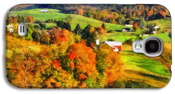 The Hills Mixed Media Galaxy S4 Cases - Autumns Glory Enters The Ohio Valley Galaxy S4 Case by Dan Sproul