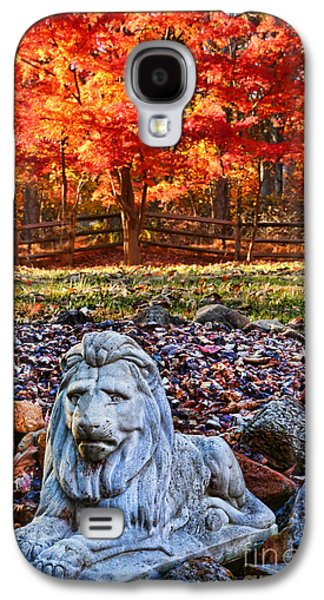 Fall Trees Fall Color Galaxy S4 Cases - Autumns Lion Galaxy S4 Case by Lee Dos Santos
