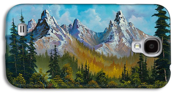 Sawtooth Mountain Paintings Galaxy S4 Cases - Autumns Magnificence Galaxy S4 Case by C Steele