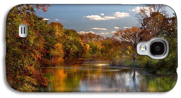 Dream Scape Galaxy S4 Cases - Autumn - Hillsborough NJ - Painted by nature Galaxy S4 Case by Mike Savad