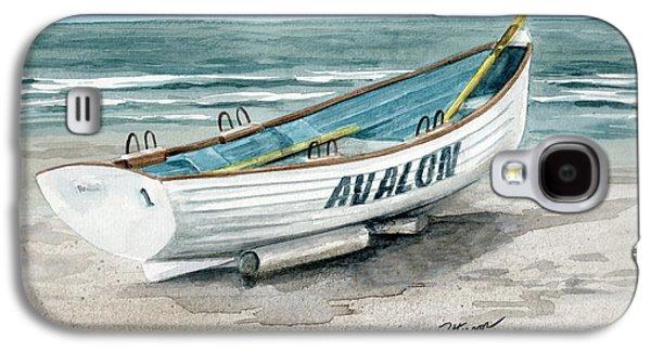 Avalon Lifeguard Boat  Galaxy S4 Case by Nancy Patterson