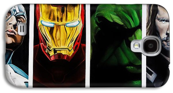 Captain Galaxy S4 Cases - Avengers Galaxy S4 Case by Brian Broadway