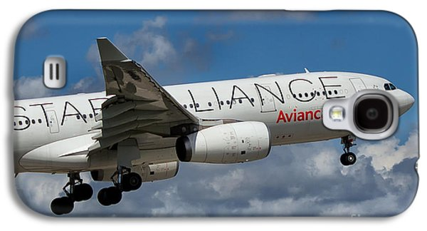 Star Alliance Airline Galaxy S4 Cases - Avianca Star Alliance Airbus A-330 Galaxy S4 Case by Rene Triay Photography