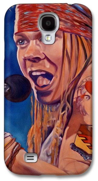 Axl Rose Paintings Galaxy S4 Cases - Axl Galaxy S4 Case by Christina Clare