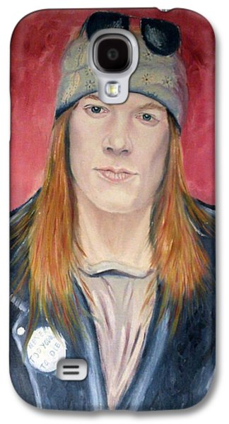Axl Rose Paintings Galaxy S4 Cases - Axl Rose Galaxy S4 Case by Robert Rombeiro