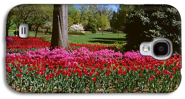 Garden Scene Galaxy S4 Cases - Azalea And Tulip Flowers In A Park Galaxy S4 Case by Panoramic Images
