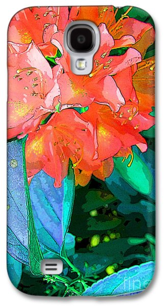 Abstract Digital Art Galaxy S4 Cases - Azealia Galaxy S4 Case by Laura Sapko