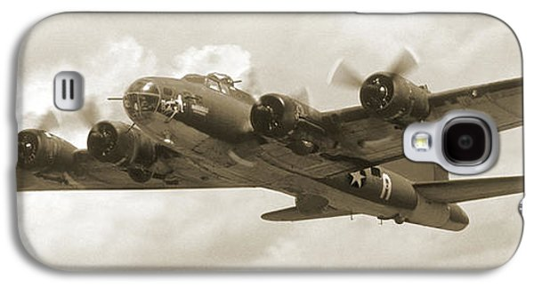 Warbird Galaxy S4 Cases - B-17 Flying Fortress Galaxy S4 Case by Mike McGlothlen