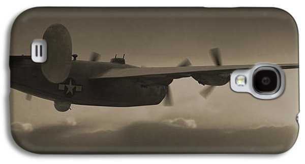 Warbird Galaxy S4 Cases - B - 24 Into The Sun Panoramic Galaxy S4 Case by Mike McGlothlen