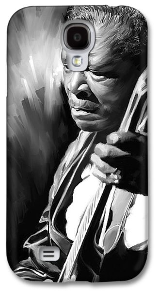 B Galaxy S4 Cases - B B King Artwork Galaxy S4 Case by Sheraz A