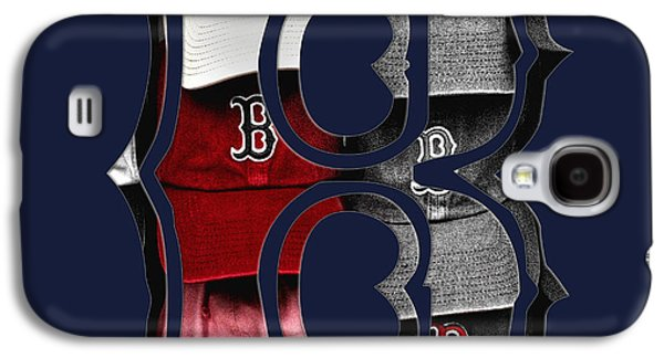 Red Sox Art Galaxy S4 Cases - B for BoSox - Boston Red Sox Galaxy S4 Case by Joann Vitali