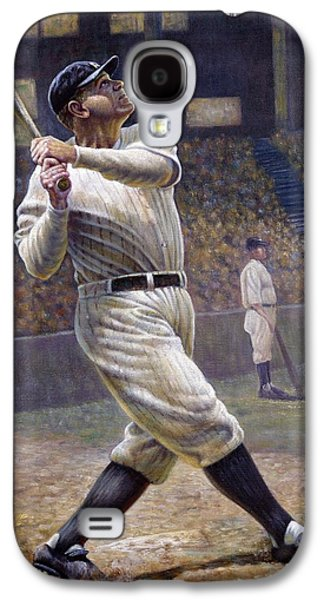Athlete Digital Galaxy S4 Cases - Babe Ruth Galaxy S4 Case by Gregory Perillo