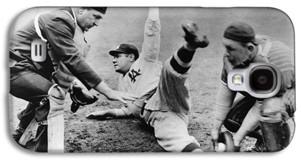 Babe Ruth Slides Home Galaxy S4 Case by Underwood Archives