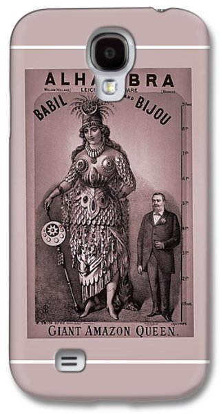 First Lady Mixed Media Galaxy S4 Cases - Babil And Bijou - Giant Amazon Queen Galaxy S4 Case by Maciej Froncisz