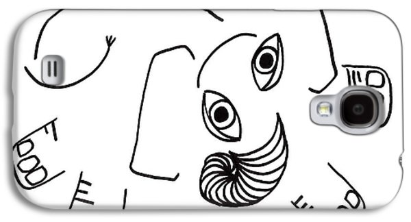 Joyful Drawings Galaxy S4 Cases - Baby Elephant Galaxy S4 Case by Sarah Loft