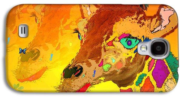 Artography Galaxy S4 Cases - Baby Giraffe 2A Galaxy S4 Case by Joyce Dickens