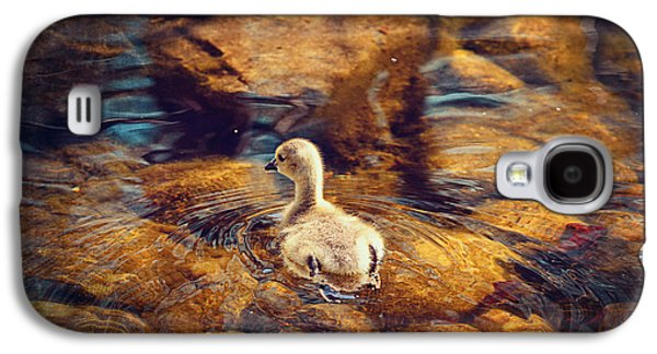 Geese Digital Art Galaxy S4 Cases - Baby Goose Il Galaxy S4 Case by Maria Angelica Maira