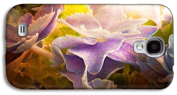 Mural Photographs Galaxy S4 Cases - Baby Hydrangeas Galaxy S4 Case by Bob Orsillo