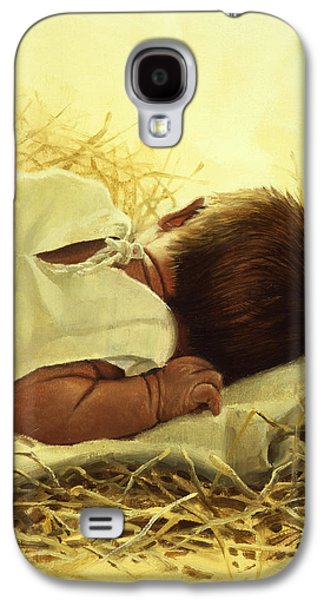 Child Jesus Paintings Galaxy S4 Cases - The Gift of God Galaxy S4 Case by Graham Braddock